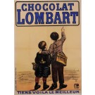 Original French Vintage Poster Advertising  Chocolate Lombart