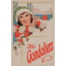 THE GONDOLIERS Vintage Poster by Sullivan Arthur and Gilbert W.S