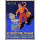 "Original  Advertising Poster Maquette for ""Le Bebe Hollandais"" ,Original."