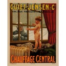 Original Vintage French Poster for Central Heating