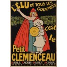 "Original Vintage French Poster for ""Petit Clemenceau"" Sold as is"