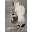 "Original Vintage Dutch Poster for ""Postzegels Voor Het Kind Briefaarten"" Exhibition"