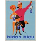 "Original Vintage French Poster for ""Bidon Bleu"""