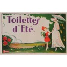 "Original Vintage French Poster for ""Toilettes d'Ete"""