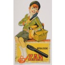 "Original Vintage French Cut Out Poster for ""Zan Pastillages Parfumes""-Boy"