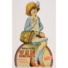 "Original Vintage French Cut Out Poster for ""Zan Pastillages Parfumes""-Girl"