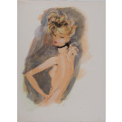 """Original color lithograph, published in Paris, From the Book """"Quand on Parle D'Amour"""""""