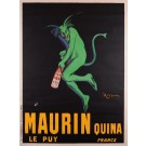 "Original Vintage French Poster  for ""Maurin Quina"" by Cappiello 1906"