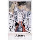 "Original Vintage Poster On Paper Chemins de fer Français ""Alsace"" by Salvador Dali 1969"
