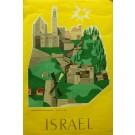 Original Vintage Israeli Poster Advertising the State of Israel