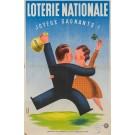 "Original French Vintage Poster ""Loterie Nationale""  -  JOYEUX GAGNANTS by Derouet Lesacq"