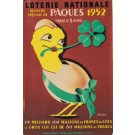 """Original French Vintage Poster """"Loterie Nationale""""  -  PAQUES  by Jerome"""