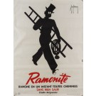 "Original Vintage  BELGIUM Poster Advertsing ""Ramonite by Delamare 1930's"