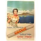 "Original Vintage Italian Poster on Cardboard ""Pasta Grania"" G. Chiozza"