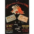 "Original Vintage Cardboard Advertising Poster ""Le Nil"" by Cappiello"