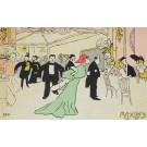 Original Vintage MAXIM'S Restaurant Menu French Lithograph by Georges Goursat