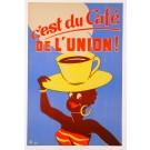 """Original Vintage French Poster Advertising """"Café de l'Union"""" by M Laurant 1953"""