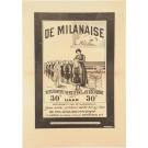 Original Vintage French Poster advertising La Milanaise by Cappiello ca. 1910