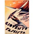 "Original Vintage Italian Propaganda Poster ""Gioventu Fascista"" Fascist Youth Magazine Signed 1931"
