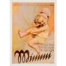"Original Vintage Small Italian Children Poster ""Mimmi"" Socks by Boccasile 1930's"