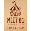 "French Student Revolution Poster ""Universite Populaire"" 1968"