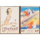 Original Vintage French Menu Holder Advertising Saint Raphael Quinquina ca. 1930