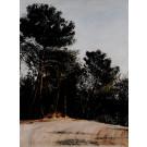 Original Acrylic On Canvas Landscape of Jerusalem by Arie Azene 1992