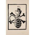 "French Student Revolution Poster ""Charles de Gaulle & Hand Grenade"""