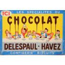"Original Vintage French Poster for ""Chocolat Delespaul-Havez"" ca. 1900"