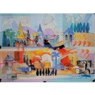 """Original Lithograph by Kalman Shemi """"Landscape"""" Signed & Numbered 57/100 1990's"""