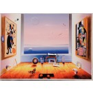 "Original Giclee on linen Signed and Numbered By Ferjo 11/350 ""Room With a View 1990's"