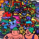 Original Graffiti Painting, Acrylic on Canvas by  'KIP'