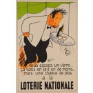 Original Vintage French Poster Loterie Nationale by R. Guerin ca. 1950