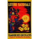 "Original Vintage Loterie Nationale Poster ""Tranche des Gros lots"""