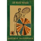 """Original Vintage Loterie Nationale Poster """"Les Beaux Voyage"""" by Laczewny 1965"""
