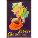 """Vintage French Poster for """"Tobler Cacao"""" by John Onwy"""