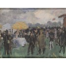 """Original Painting on Board by Grun """"Garden Party"""" 1990's Rare"""