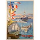 "French Tourism Travel Poster  ""Toulon"""