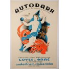 "Original Vintage Catalan Travel Poster ""AUTOPARK"" by Texidon 1936"