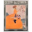 "Original Cover Print Italian Magazine ""Scena Illustrata Firenze"" Lorioux"