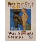 """Original Vintage American Propaganda Poster """"Buy War Saving Stamps"""" by H. Paus"""