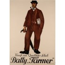 """Original Vintage Swiss Poster for """"Farmer"""" shoes by Bally"""