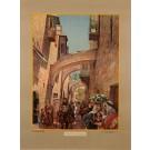 "Original Orientalist Lithograph Poster ""Straat in Jeruzalem"" Palestine 1926"