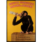 "Original Vintage Italian Poster ""Anisetta Evangelisti"" Liquor by Biscaretti 1925"