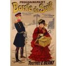 """Original Vintage French Poster """"Boule de Suif"""" Play by René Péan 1902"""