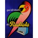 "Original Vintage French Poster Advertising ""Radiola"" Recievers by Rene Ravo 50's"