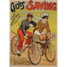 """Original Vintage French Poster Advertising """"Cycles Saving"""" by P. Chapellier"""