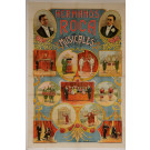 "Original Vintage Spanish OVERSIZE 2 PARTS Poster for ""Hermanos Roca Musicales"""