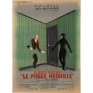 """Original Vintage French Movie Poster for """"'Le Passe Muraille'"""" Labisse 1951"""