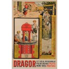 """Original Vintage French Poster Advertising """"Dragor"""" Water Pump by Jelb 1935"""